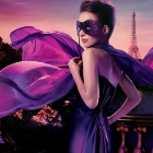 Фото lady with the purple mask