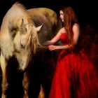 Картинки beautiful woman and white horse