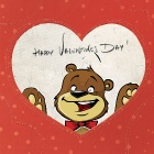 Обои happy valentines day card