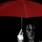 Обои red umbrella