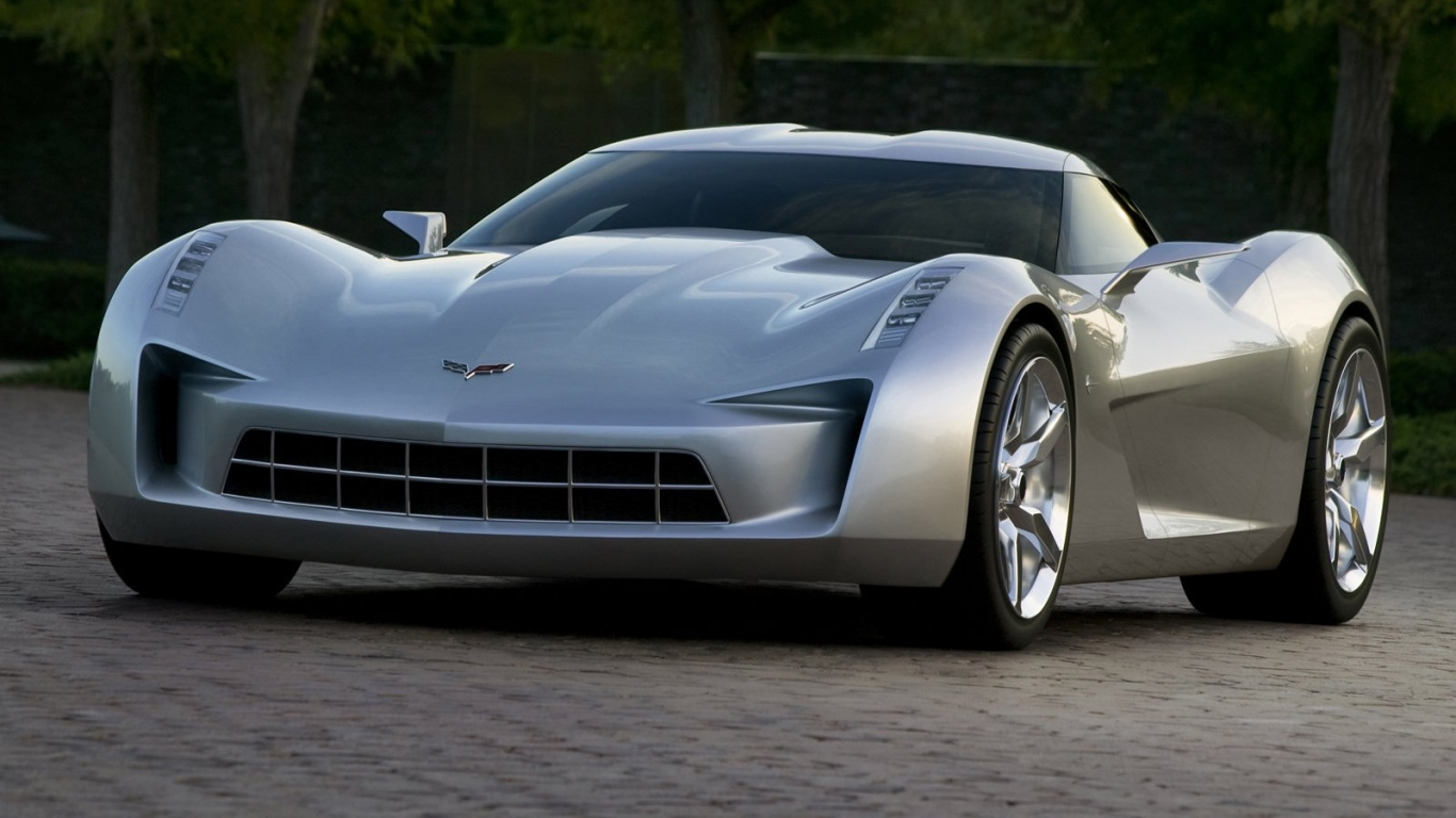 Chevrolet Stingray Concept 2010 в разрешении 1366x768 (HD)