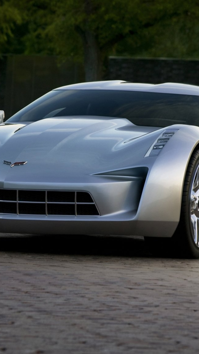 Chevrolet Stingray Concept 2010 в разрешении 640x1136 для iPhone 5